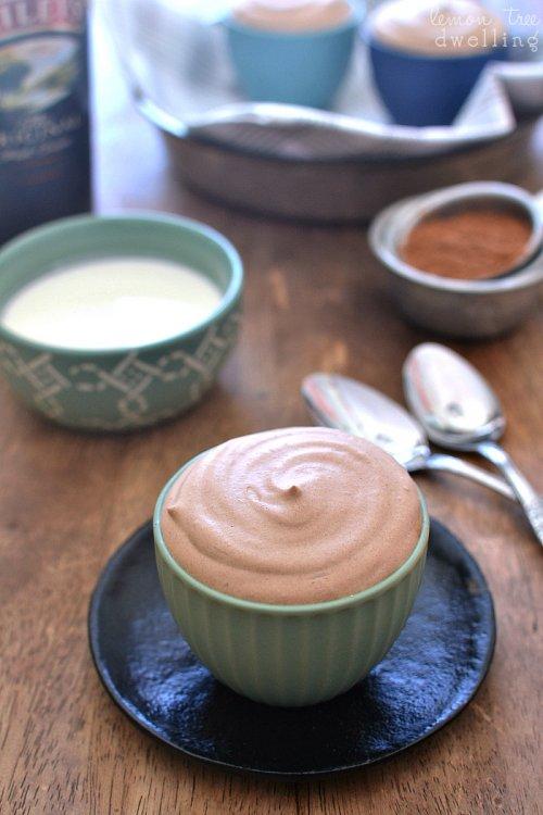 Mousse de chocolate con Baileys