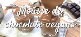 Receta mousse de chocolate vegano